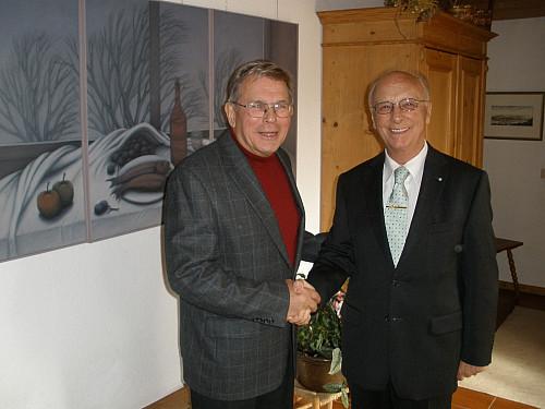 Franz Josef Schick Feiert 75 Geburtstag Landrat Gessner Gratulierte Seinem Amtsvorganger